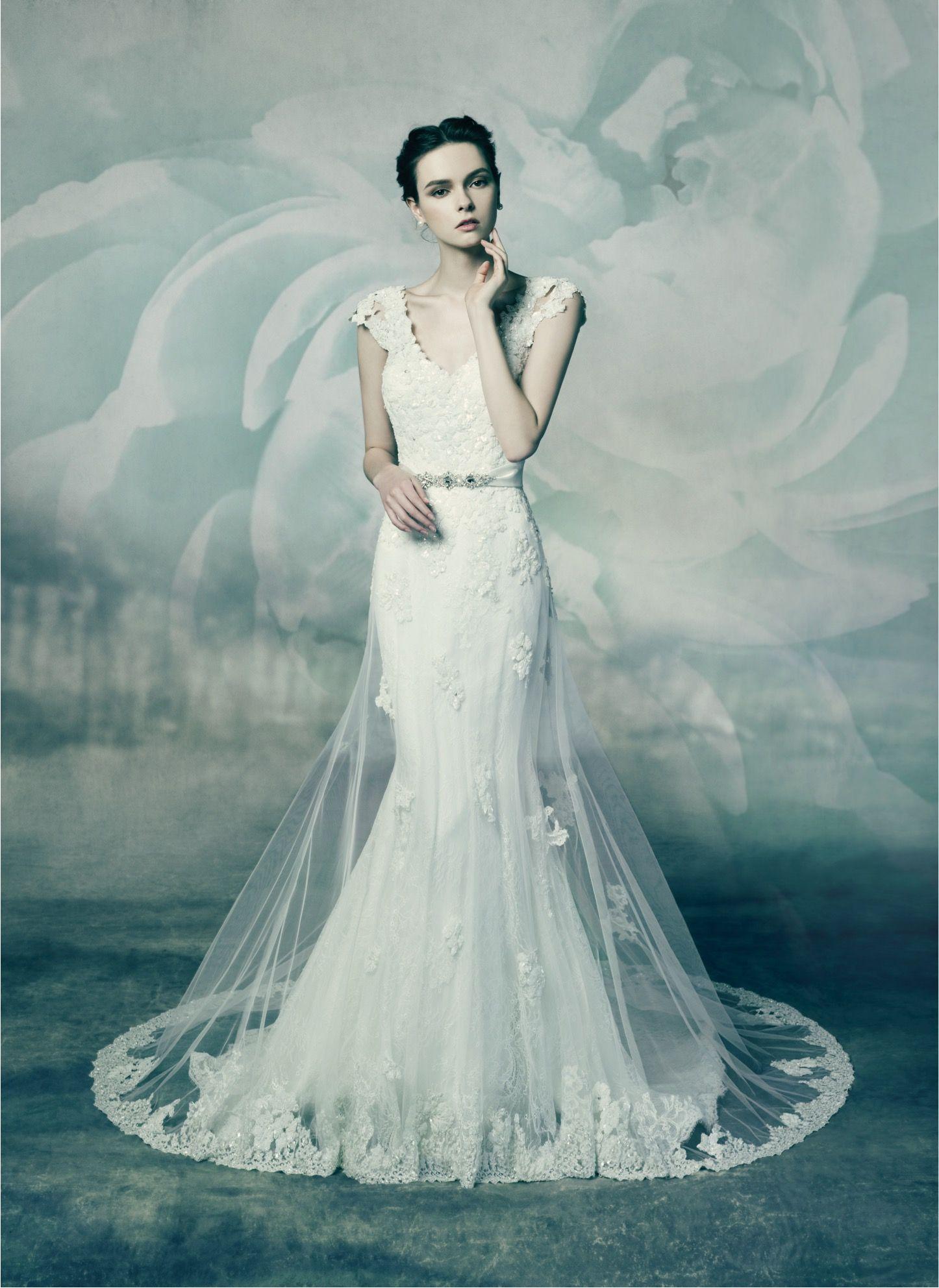 CORAL, wedding dress from Annasul Y. 2016 Bridal Collection. www ...