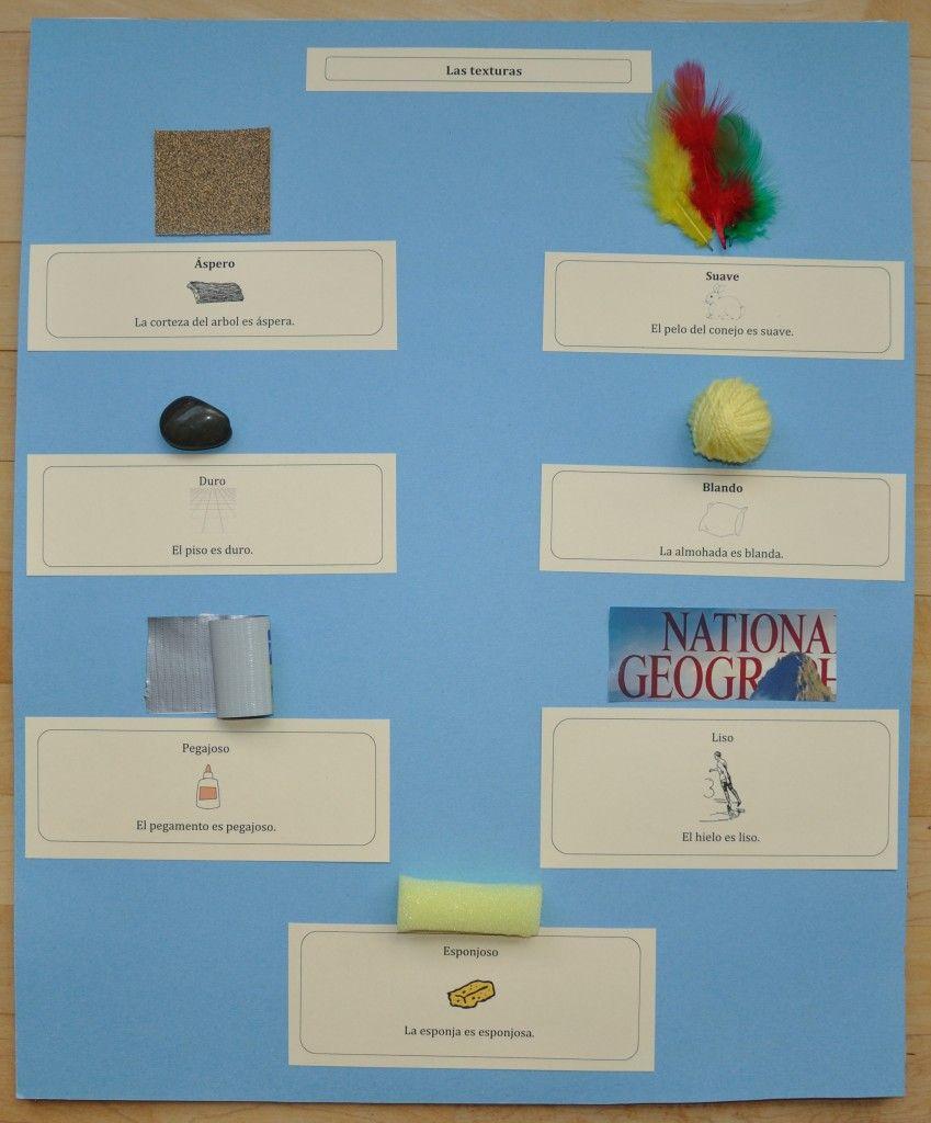 Printable Spanish Texture Board Activity and Workbook - Spanish Playground