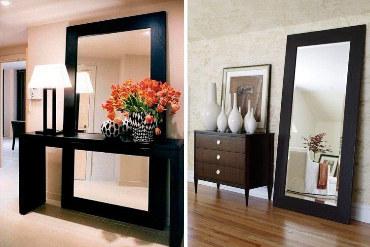 Decora con espejos apoyados en el suelo espejos for Espejos ovalados para decorar