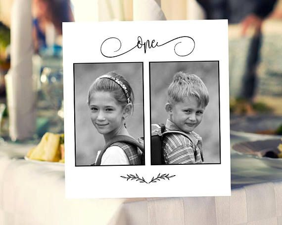 1 20 personalized photo table numbers printable numbers photo table