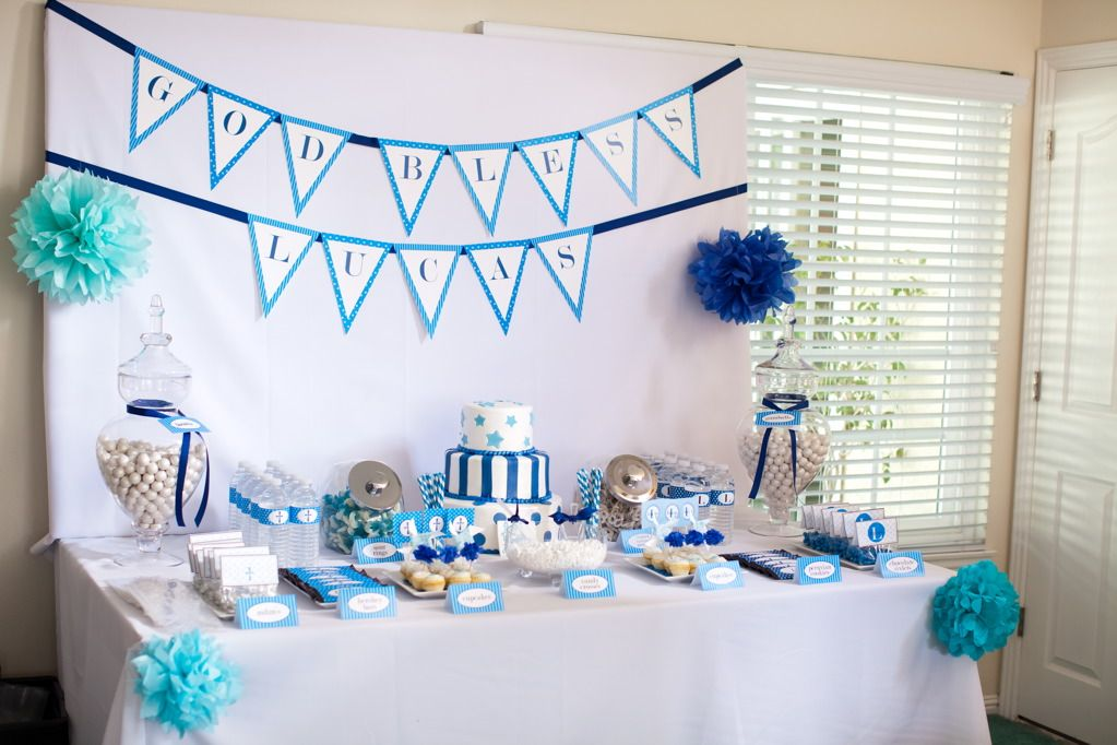 Christening Table Decoration Ideas Lucas Baptism Dessert Table A