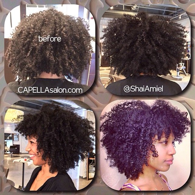 Deva Curl On Relaxed Hair Before After By Shai Amiel