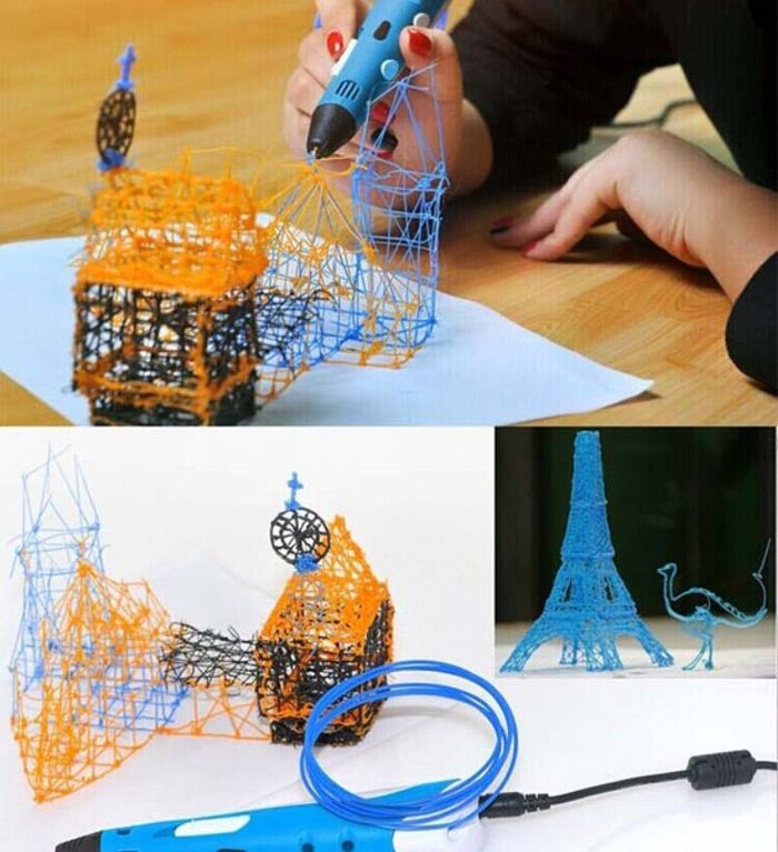 3D Printer Pen with ABS Material for Children Present