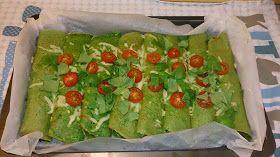 Saras madunivers: Spinatpandekager med krydret fyld og hytteost.