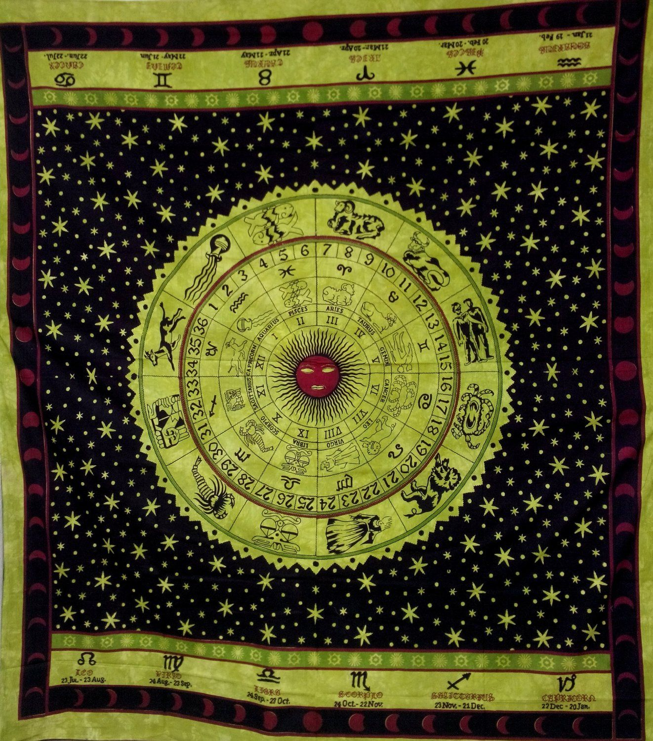 Amazon.com - Zodiac #Tapestry Large Wall Art #Hippie Tapestry ...