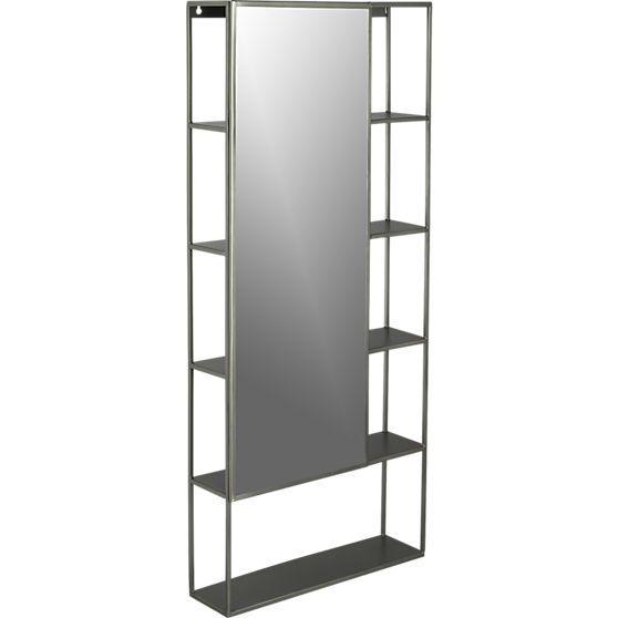 peek shelf with mirror | CB2 | Home-BASE :) | Pinterest