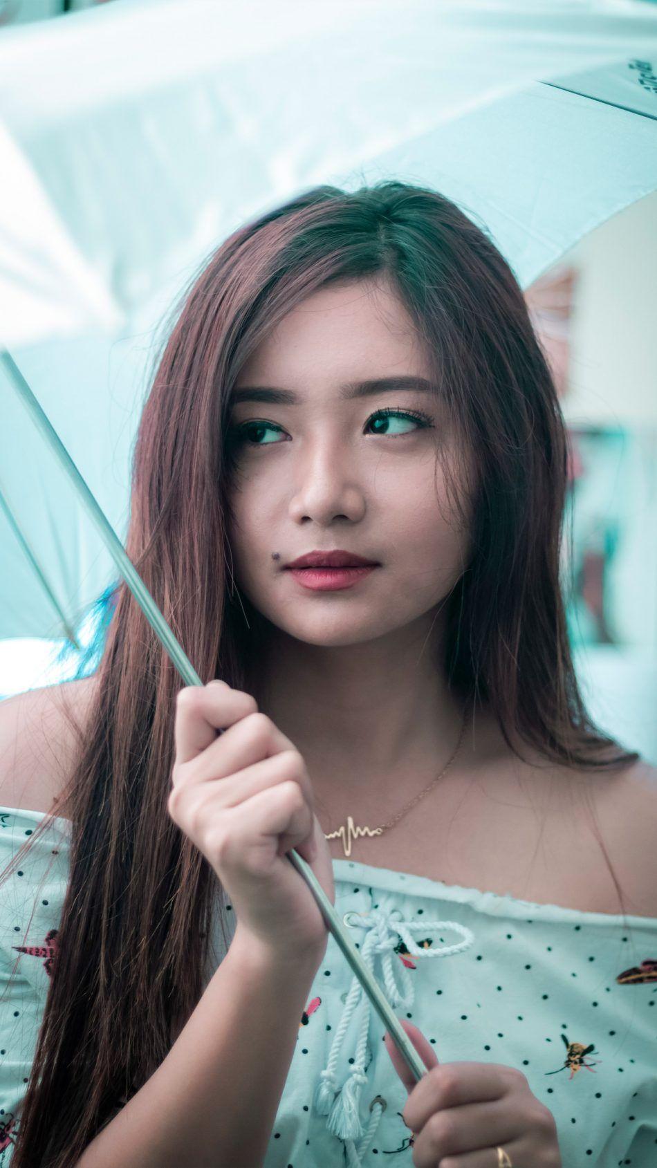 Cute Asian Model Umbrella Photography 4k Ultra Hd Mobile Wallpaper Umbrella Photography Asian Model Photography 4k