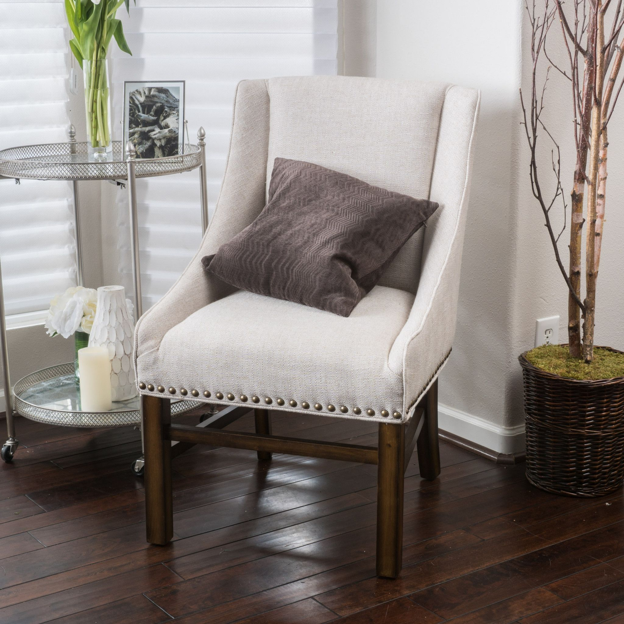 James Natural Fabric Dining Chair