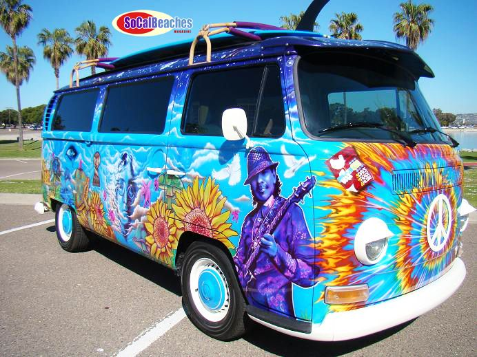 peace goes on the road the california vw hippie peace van. Black Bedroom Furniture Sets. Home Design Ideas