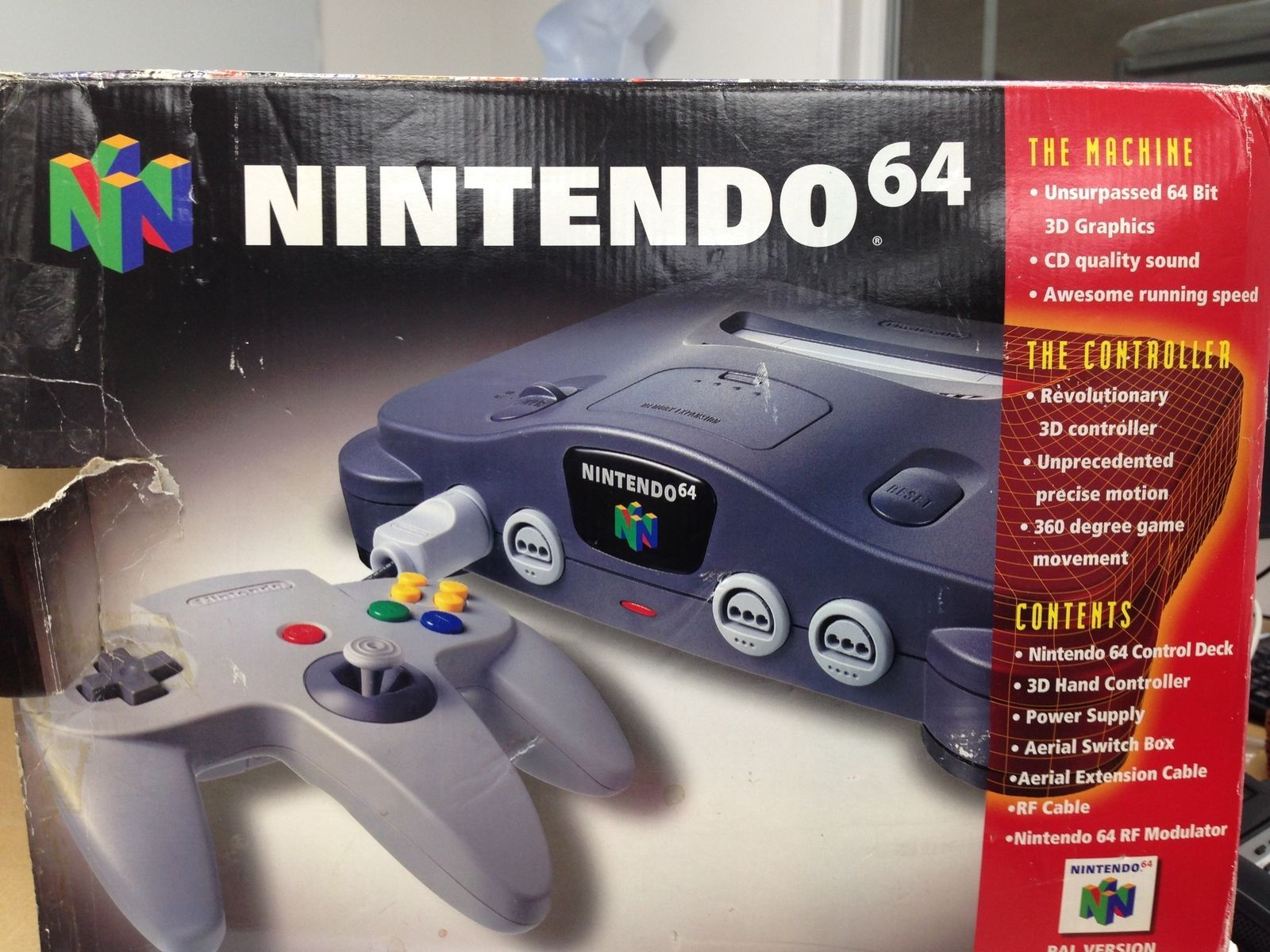 Nintendo N64 Console Boxed PAL Superb Condition Fully Tested