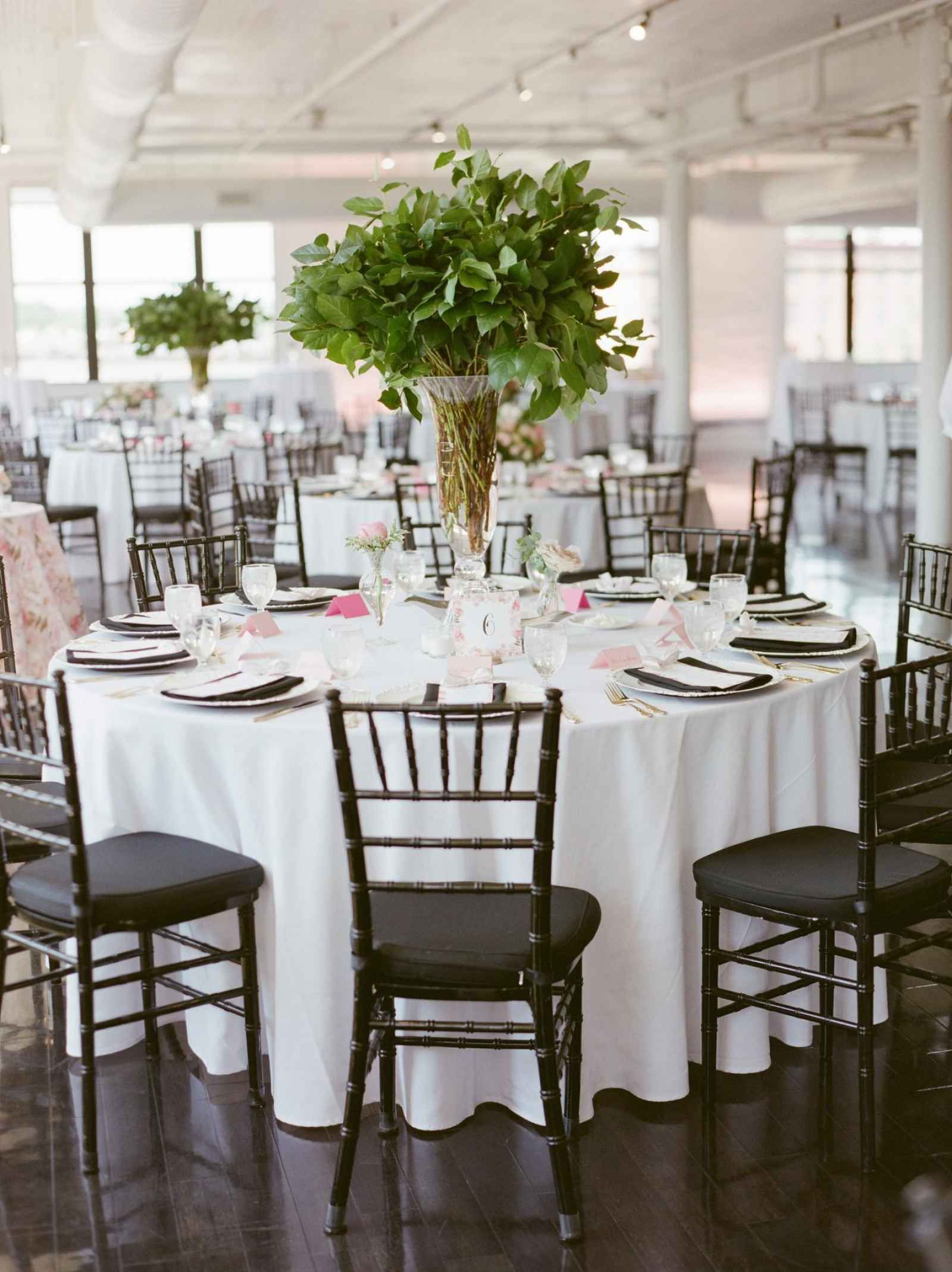All Greenery Tall Centerpieces The Wedding Story Of Melissa And
