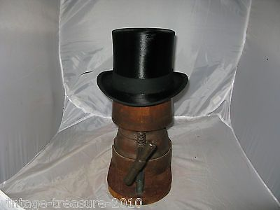 #Antique #vintage black silk top hat  size 6 7/8 ascot #56cms,  View more on the LINK: http://www.zeppy.io/product/gb/2/151836080215/