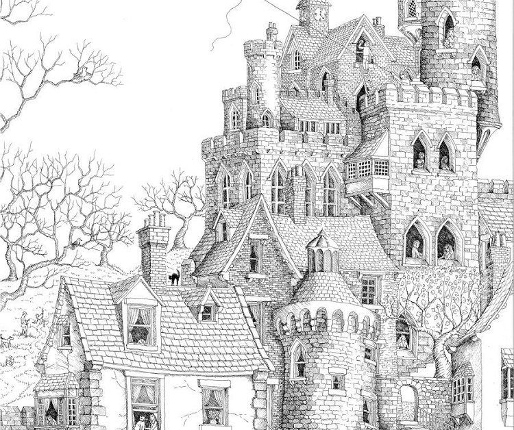 Castle Landscape Coloring Pages With Images Coloring Pages