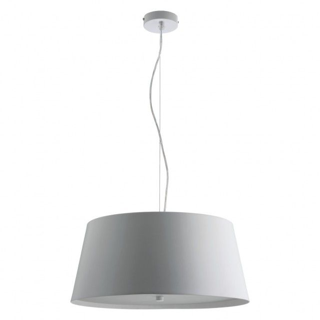 Pendry grey metal ceiling light with diffuser