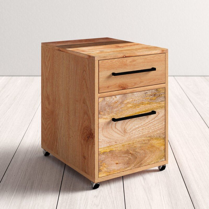 Cumberland 2 Drawers Mobile Vertical Filing Cabinet In 2020 Filing Cabinet Office Furniture Modern Solid Mango Wood