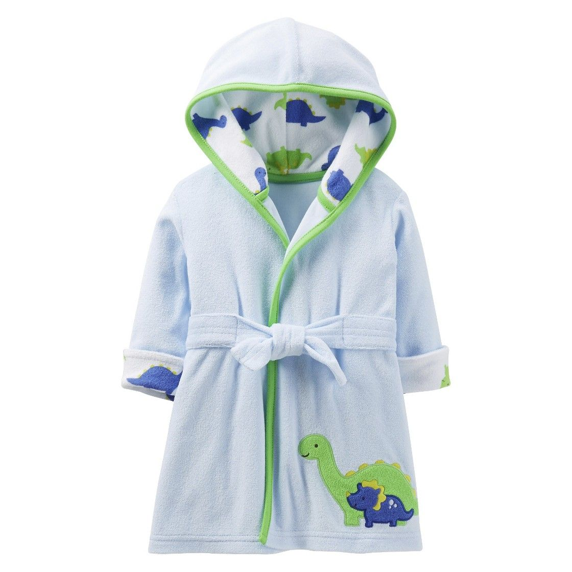 Just One You Made by Carter\'s Newborn Boys\' Dinosaur Robe - Blue ...