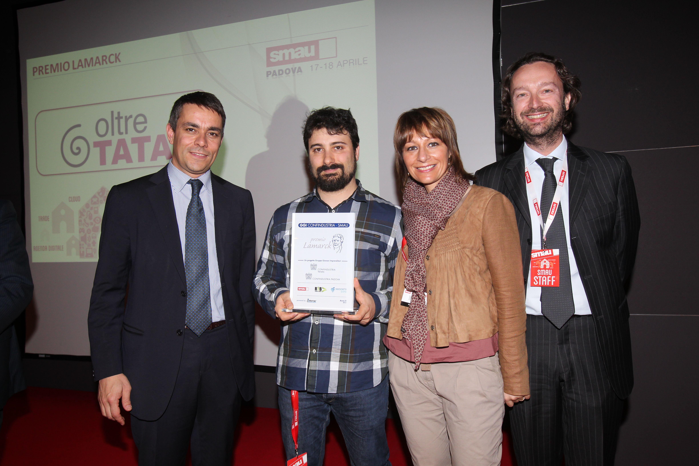 Premiazione allo Smau Padova 2013 - Premio Lamarck