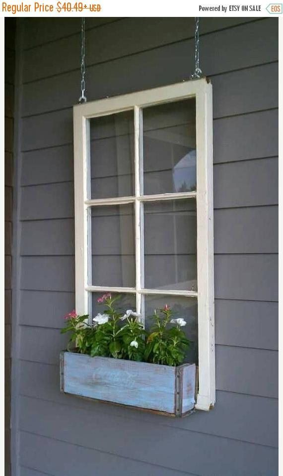 On Sale Wood Window Flower Box Window Frames Antique Wood Window Box Flowers How To Antique Wood