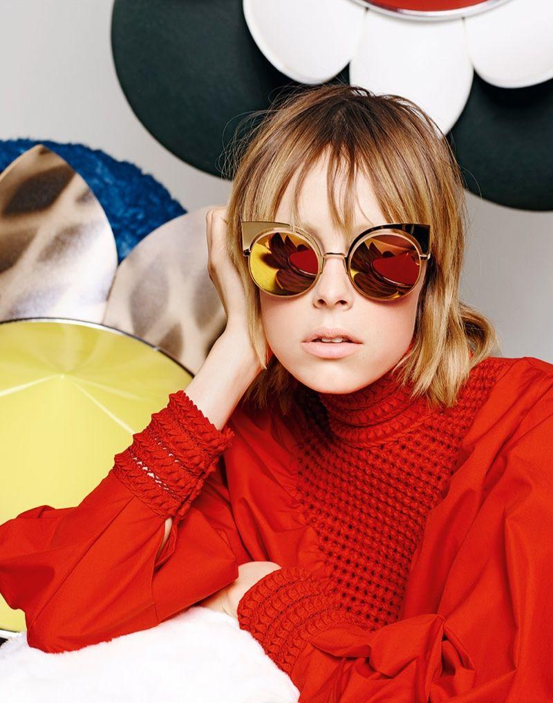 9d20eca7f0 Edie Campbell stars in Fendi spring summer 2016 eyewear campaign
