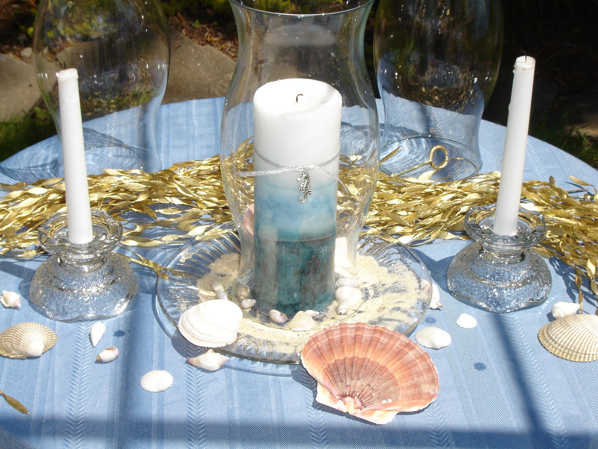 Beach theme centerpiece centerpieces
