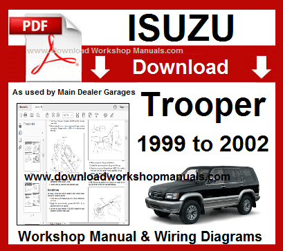Isuzu Trooper 1999 To 2002 Workshop Manual Download Repair Manuals Repair Trooper