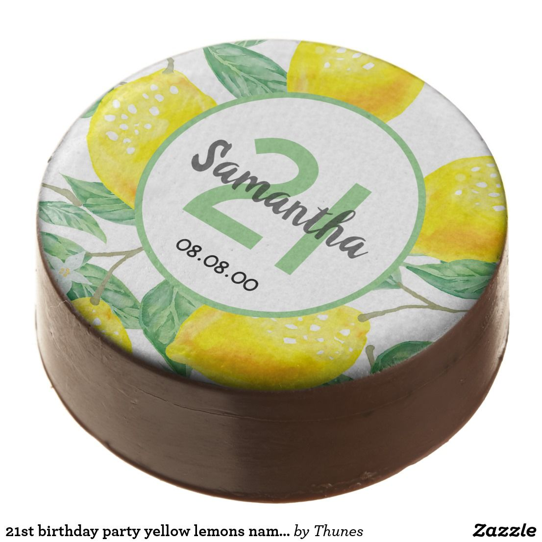 21st birthday party yellow lemons name age chocola