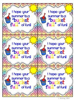 Bucketful of fun summer tags. This is a tag that can go with any ...