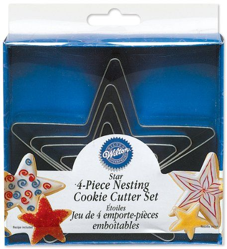 Wilton Cookie Cutter set: (4 different size stars) -- Check out this great image @ : Baking Accessories
