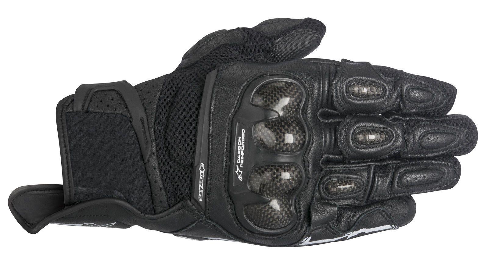 Motorcycle gloves distributor - Alpinestars Spx Air Carbon Mens Leather Gloves Black