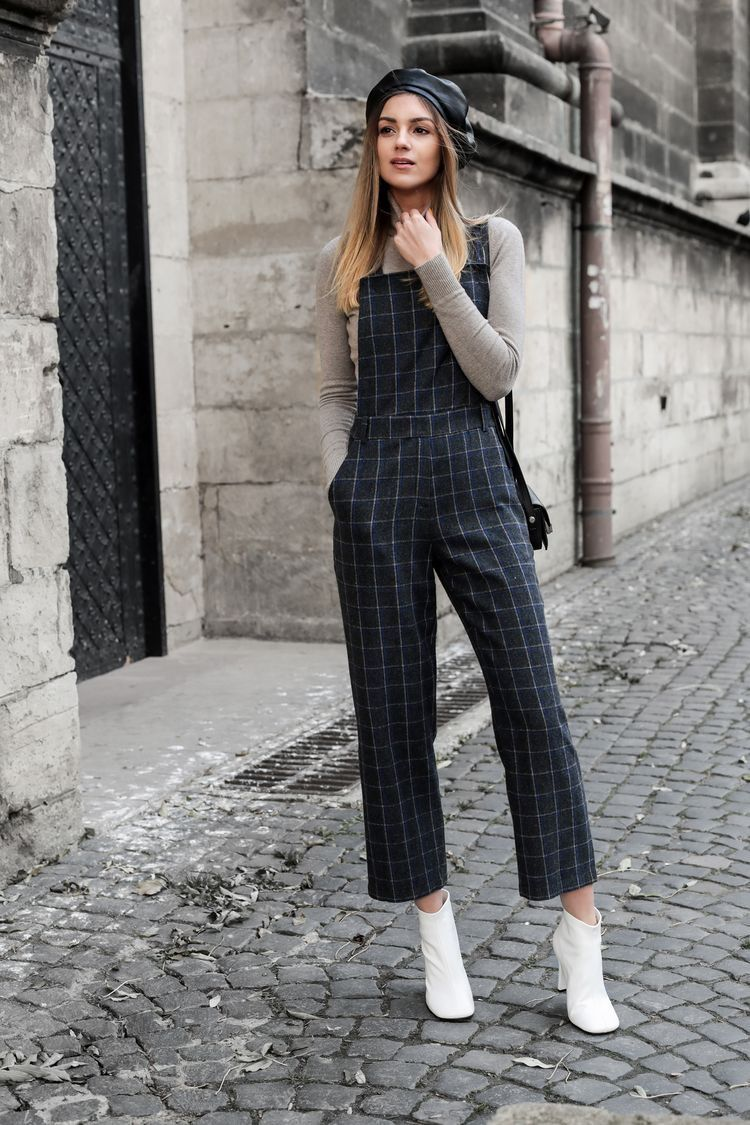 902abd753a Jumpsuit and white ankle booties