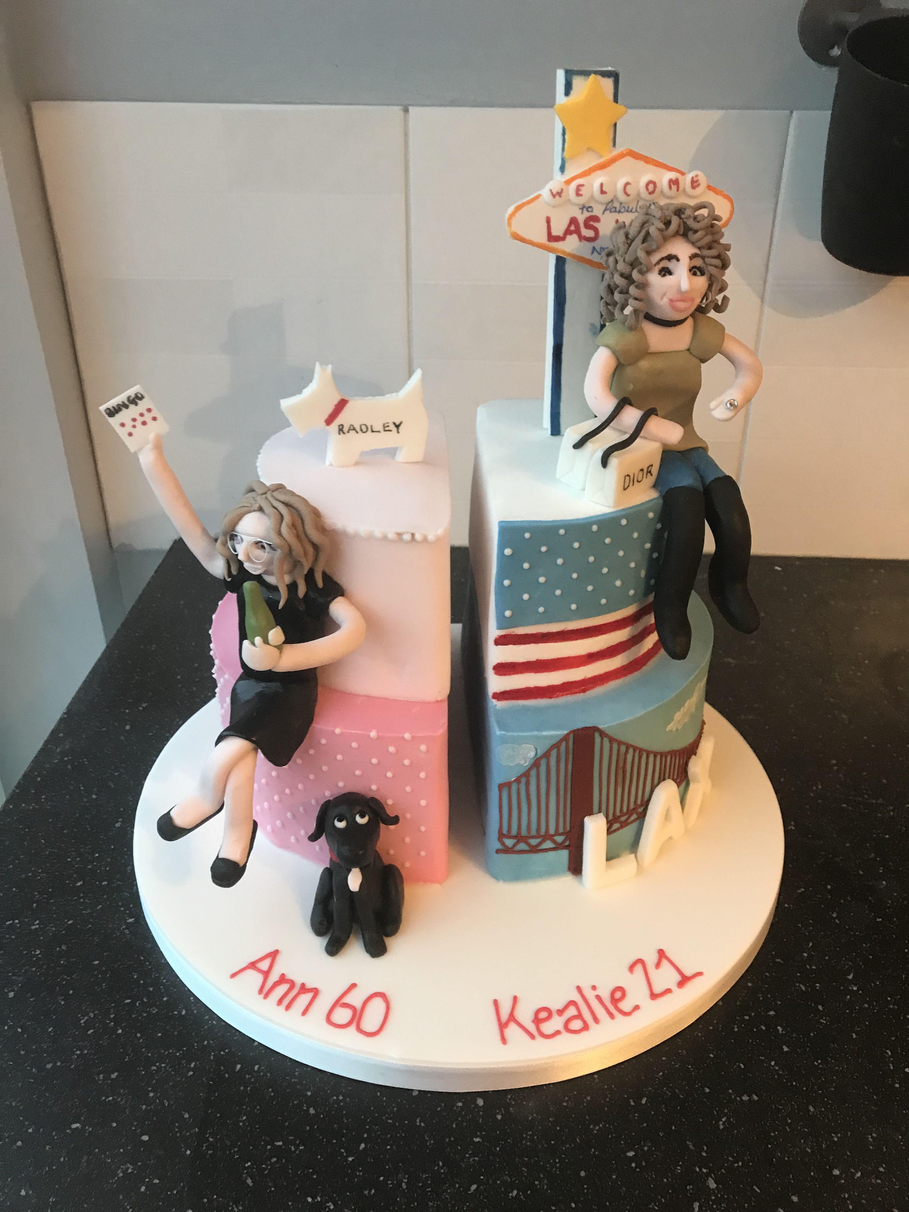 Joint Birthday Cake Halfandhalfbirthdaycakes