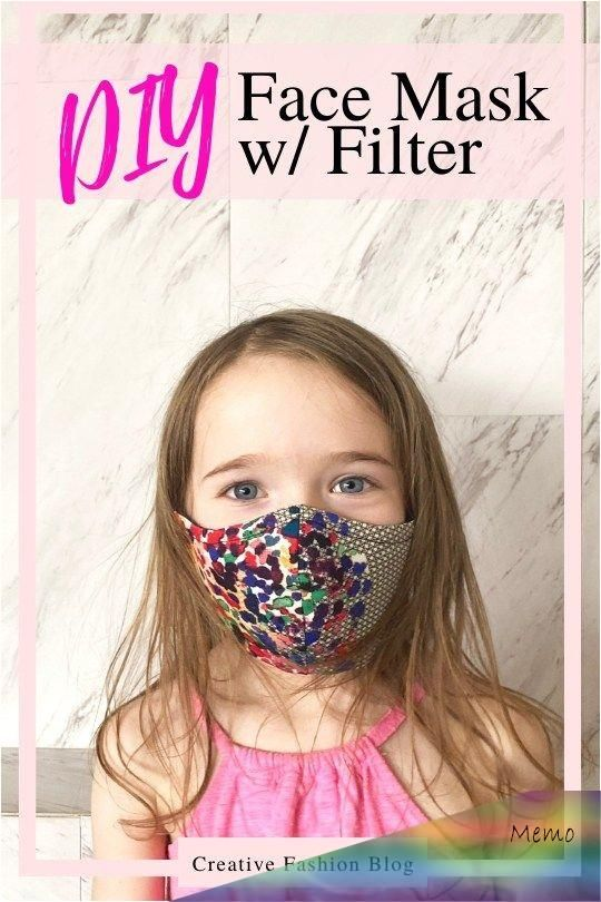 Photo of Learn how to make a face mask with a HEPA filter, wire nose casing, and replacea…