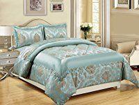3 Teiliges Luxus Bettwasche Set Jacquard Gesteppte Tagesdecke