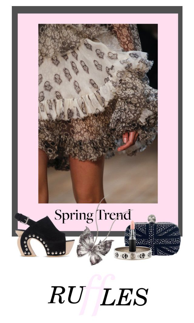 """Spring Trend ~ Ruffles"" by dyanjoy ❤ liked on Polyvore featuring Alexander McQueen, MAC Cosmetics and ruffles"