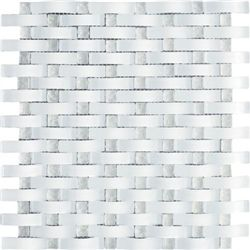 3d Wave Glass Ice White Mosaic Tiles Glass Mosaic Tiles Mosaic Tiles Wave Glass