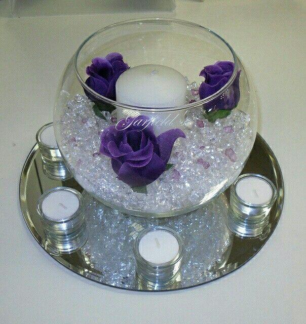 Purple Wedding Reception Ideas: Purple Wedding Centerpieces, Wedding Table