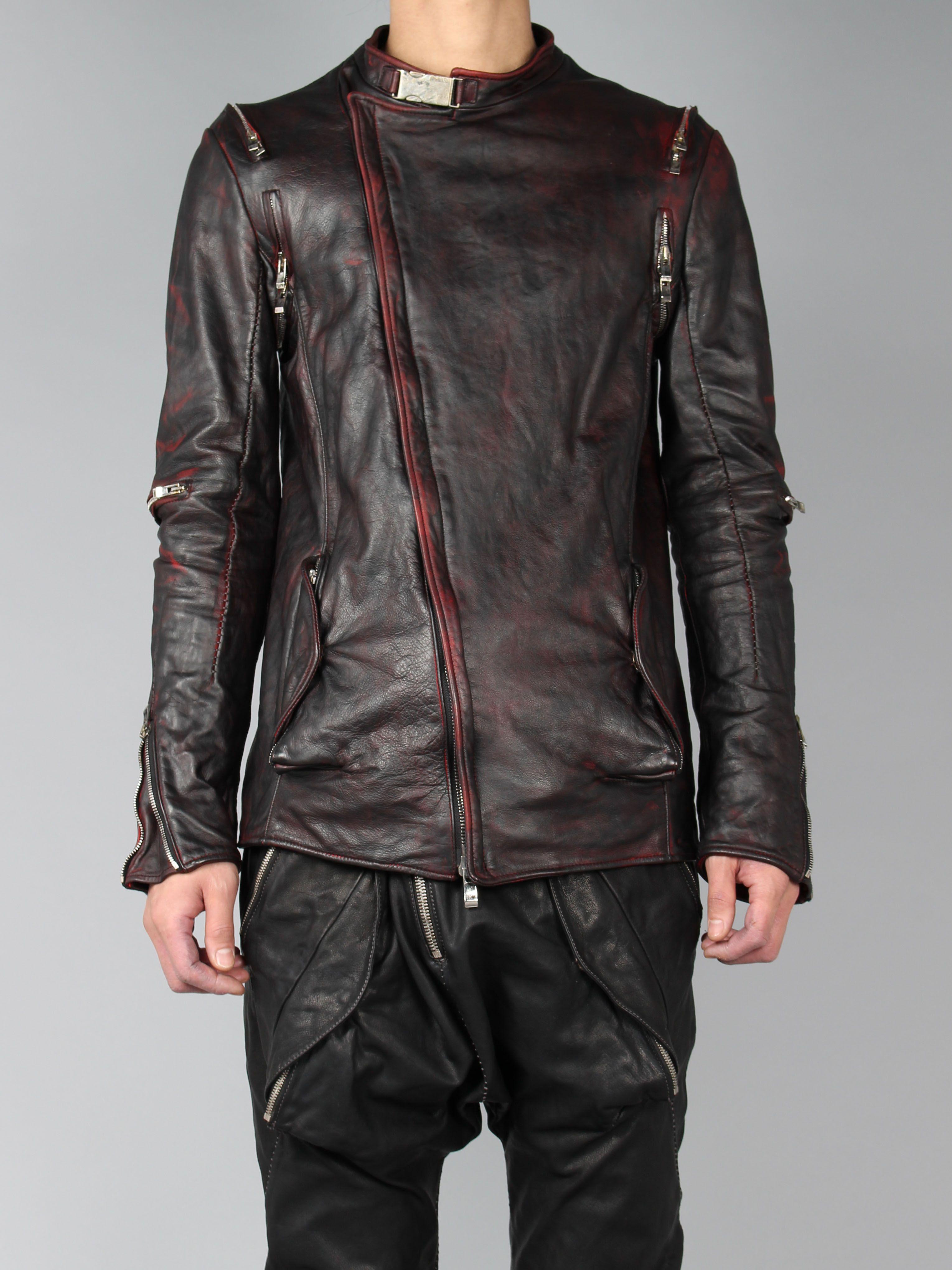 INCARNATION RED BIKER JACKET Jackets, Leather jacket