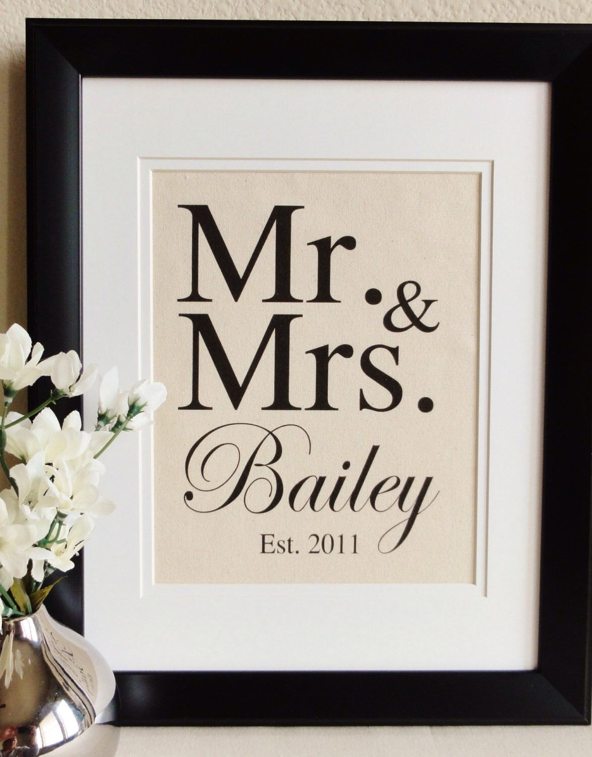 Cotton Anniversary Gift Mr Mrs The Perfect Gift For 2nd Year