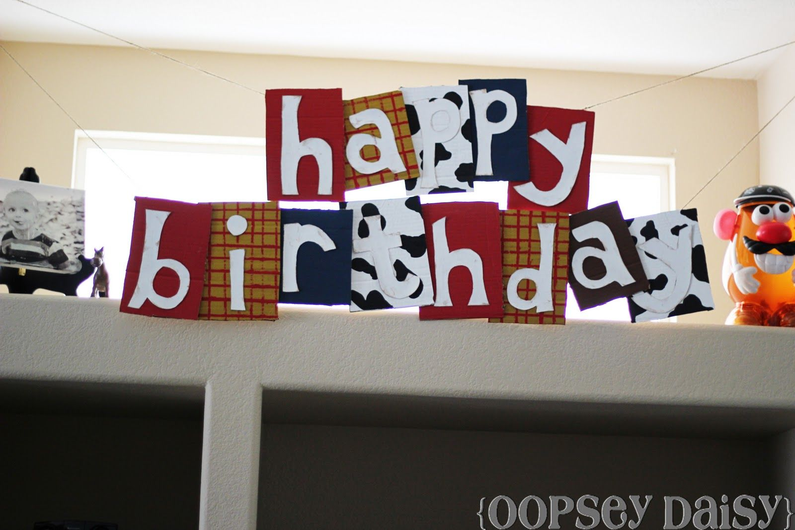 Happy Birthday Banner {Toy Story Style} Oopsey Daisy