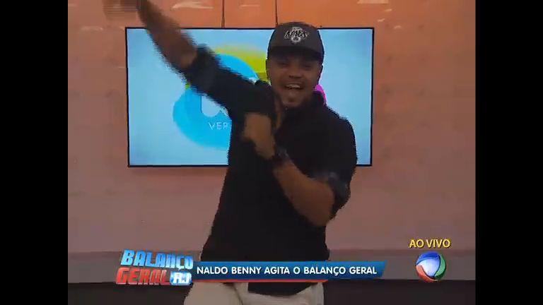 Cantor Naldo agita o Balanço Geral desta quinta-feira (20) - Vídeos - R7