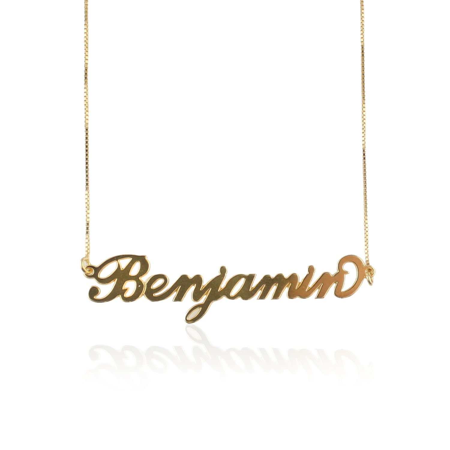 sterling over script gold product cursive name wid necklace