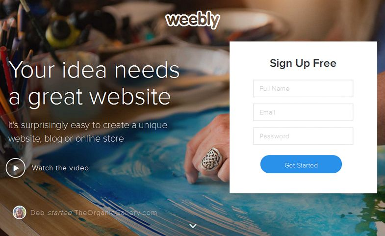 Website builder Weebly lines