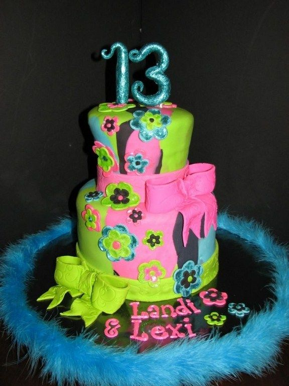 cake designs for a 13 year old girl Ideas of Birthday Cake for
