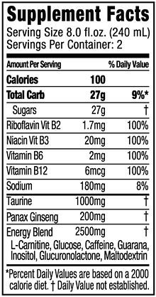 Energy Drink Energy Drinks Nutrition Facts Label Drinks