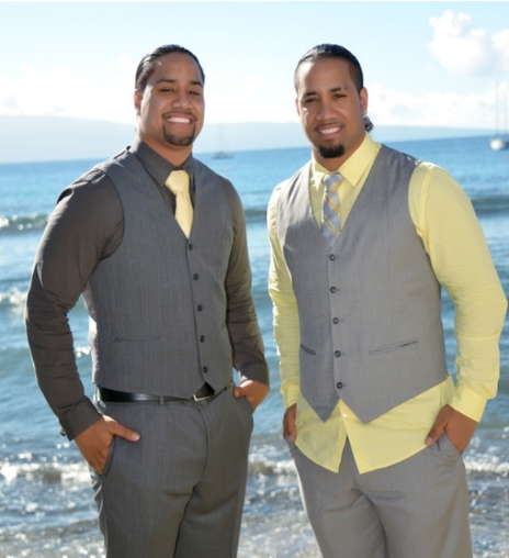 #WWE Tag Team superstars Jon & Josh Fatu (The Usos) at Jon's January 2014 wedding in Hawaii
