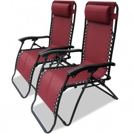 caravan sports infinity zero gravity chair 2pk burgundy walmart rh pinterest com