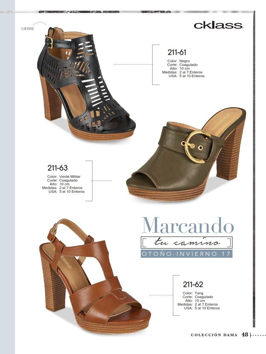 eea2ac6da7274 Sandalias Cklass de tacon cuadrado para damas. Este elegante zapato esta de  moda en OI-2017