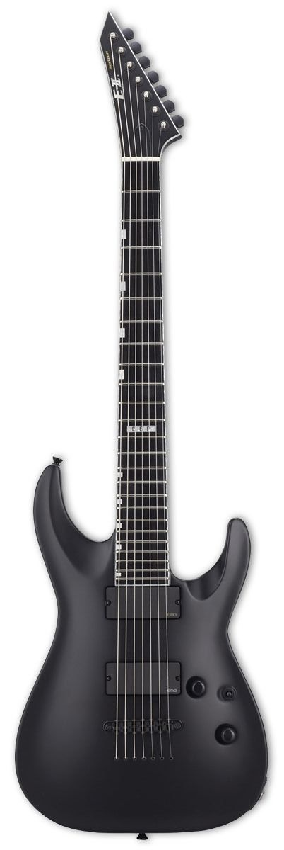 esp e ii horizon nt7 b 7 string baritone electric guitar black satin finish cool guitar. Black Bedroom Furniture Sets. Home Design Ideas