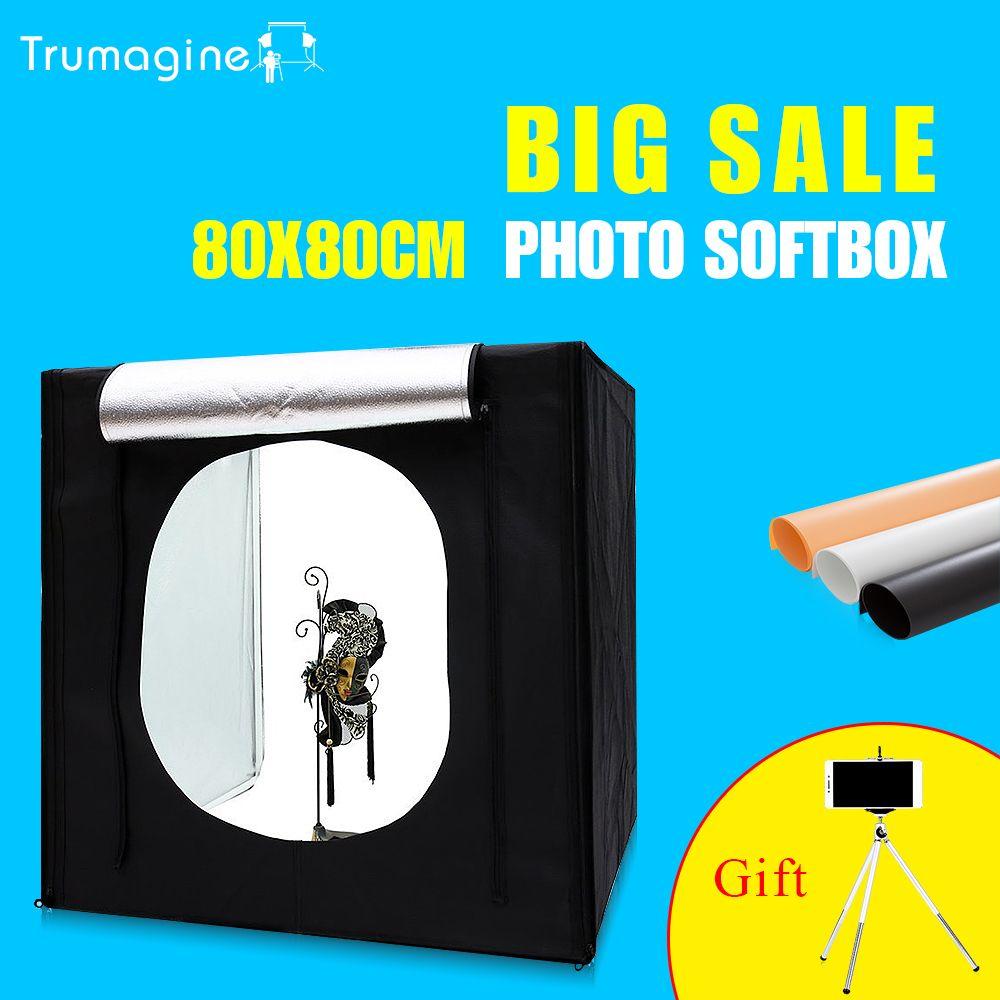 Portable LED Photo Studio Lightbox Softbox Light Tent Shooting Softbox Photography Light Box For Jewelry Clothing  sc 1 st  Pinterest & 80*80*80CM Portable LED Photo Studio Lightbox Softbox Light Tent ...