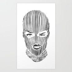 Ski Mask Art Print Mask Tattoo Ski Mask Tattoo Masks Art